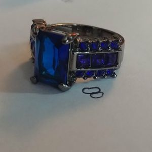 Royal blue gem ring